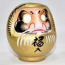 日本製 心願成就 開運 彩繪 達摩 福神 不倒翁 群馬縣高崎生產 金色 金運上昇