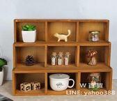木製桌面整理收納櫃 雜物展示架 復古風