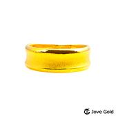 Jove Gold漾金飾 寧靜黃金男戒指