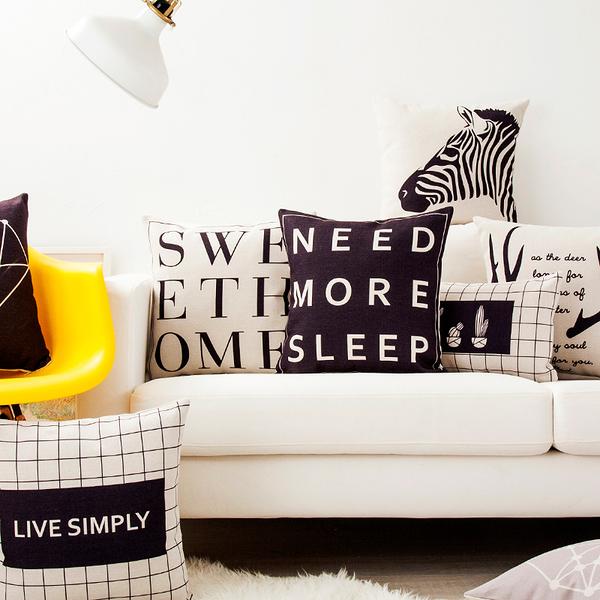 歲末清倉~時尚簡約實用抱枕111 靠墊 沙發裝飾靠枕 (30X50cm不含枕心)