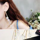 耳環 葉子 流蘇 鍊條 水晶 個性 氣質 耳環【DD1708192】 icoca  09/28