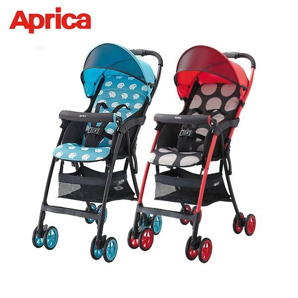 【Aprica 愛普力卡】最輕量單向四輪嬰幼兒手推車 Magical Air S 高視野 (92555/92557)