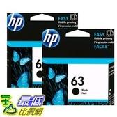 [COSCO代購]  HP 63XL 黑色墨水匣 兩入裝 _W111082