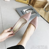 2018春季新款尖頭漆皮小清新高跟鞋少女細跟簡約韓版百搭單鞋女秋 簡而美