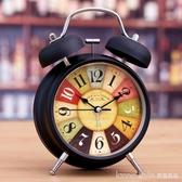 超大聲音小鬧鐘學生用床頭靜音夜光兒童創意時鐘個性臥室鐘錶鬧鈴 LannaS