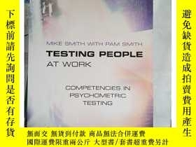 二手書博民逛書店罕見~ 外文書 Testing People at Work: Competencies in PsY2052
