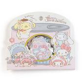 〔小禮堂〕Sanrio大集合 造型貼紙組《粉米》裝飾貼.黏貼用品.變裝貓咪系列 4901610-64639