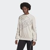 Adidas Giant Logo Sweatshirt 女款米白色運動長袖上衣-NO.GL0531