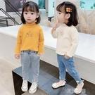 女童上衣T恤 女童長袖T恤打底衣新款兒童洋氣寶寶高領打底衫純棉上衣1 快速出货