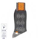 MCM斜紋雙菱格紋紳士襪(灰色)980199