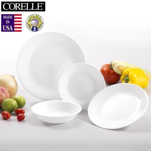 【多禮量販店】《CORELLE》美國康寧4件式餐具組 -純白