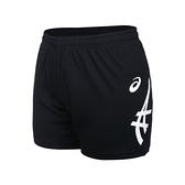 ASICS 女針織短褲(免運 台灣製 吸濕排汗 排球褲 運動 三分褲 亞瑟士≡體院≡ 2052A302-002