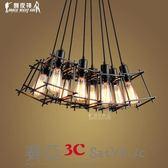 吊燈工業風北歐復古鐵藝不包安裝