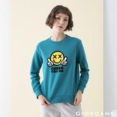 【GIORDANO】女裝CHEER YOU ON大學T恤 - 04 港口綠