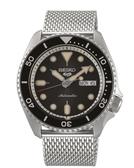 【SEIKO】5 Sports 水鬼機械腕錶黑米蘭帶腕錶