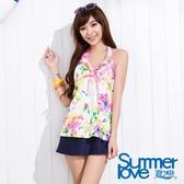 【SUMMERLOVE夏之戀】浪漫花園三件式泳衣(S15757)