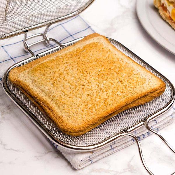 BreadLeaf 熱壓吐司神器 三明治烤箱烤網 不鏽鋼麵包烤網 帕尼尼 熱壓三明治 炭烤吐司 三明治夾