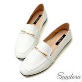 訂製鞋 金飾軟皮兩穿樂福鞋-艾莉莎ALISA【2588086】白色下單區