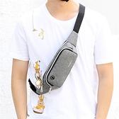 新款手機腰包多功能潮牌側背包小型運動挎包胸包背包斜挎包男包包 韓美e站