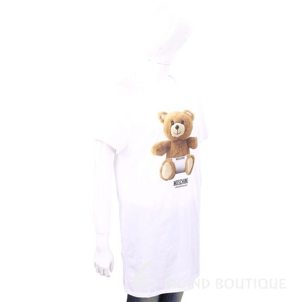 MOSCHINO Underwear 內褲泰迪熊寶寶白色長版棉質T恤 1820627-20