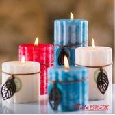 香薰蠟燭 家用香薰蠟燭台歐式臥室豆蠟無煙香氛 多款