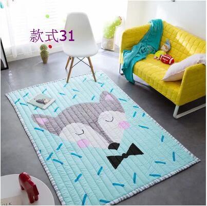 幸福居*兒童全棉地毯爬行墊嬰兒爬爬墊寶寶加厚3cm家用客廳臥室遊戲地墊3(長方形150*200CM)