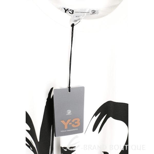 Y-3 白色手繪字樣短袖T恤 1620558-20