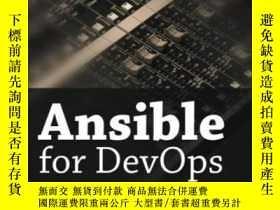 二手書博民逛書店Ansible罕見For Devops: Server And Configuration Management