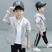 男童防曬衣服夏裝新款男孩韓版透氣中大童裝兒童夏季超外套薄 9號潮人館