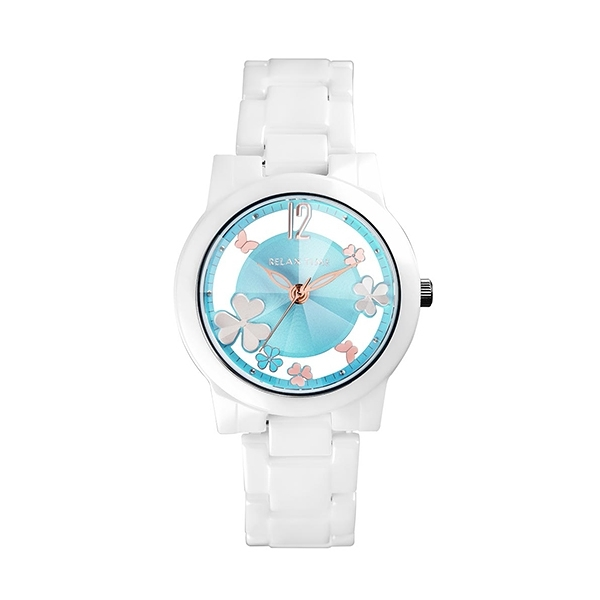 【Relax Time】Garden系列鏤空陶瓷時尚腕錶-天空藍/RT-80-5/台灣總代理公司貨享一年保固