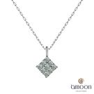 amoon 永恆回憶系列 芳情 鉑金鑽石項鍊