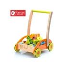 【德國 classic world】CLA3306 客來喜經典木玩 - 積木助步車