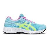 Asics CONTEND 6 GS [1014A086-405] 大童鞋 運動 休閒 慢跑 舒適 支撐 亞瑟士 藍 黃