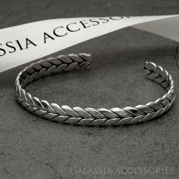 G.A S925純銀手環手鐲-編織 《GA》BR025
