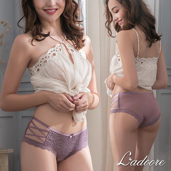 內褲 Ladoore 星空心願 法式蕾絲側邊簍空小褲 (紫)