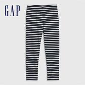 Gap女幼童 棉質彈力鬆緊緊身褲 539055-多色條紋