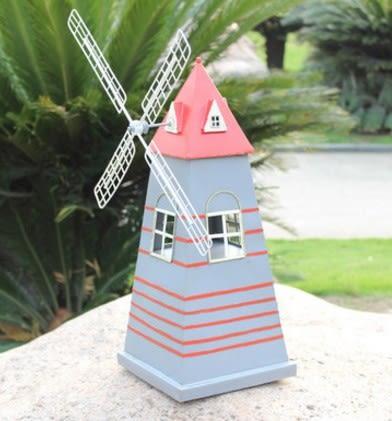 協貿國際荷蘭風車鐵皮模型擺件1入