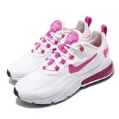 Nike 休閒鞋 Wmns Air Max 270 React 白 粉紅 女鞋 運動鞋 【PUMP306】 CJ0619-100