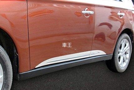【車王汽車精品百貨】三菱Mitsubishi 2015 OUTLANDER 車身裝飾條 車身防撞條 車身飾條 ABS精品