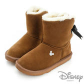 Disney 冬日戀曲~後側綁帶蝴蝶結雪靴(棕)