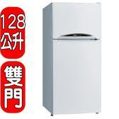 SANLUX台灣三洋【SR-B128B3】128公升雙門冰箱/CSPF2級/多層冷流出風口