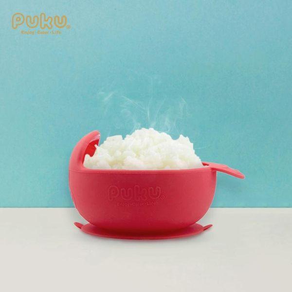 餐具 PUKU寶寶兒童餐具 吸盤碗防摔防滑兒童套餐 硅膠加熱輔食碗 生日禮物