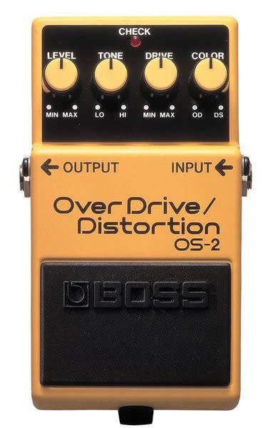 【金聲樂器】全新 BOSS OS-2 OverDrive Distortion 破音 過載效果器