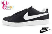 NIKE滑板鞋 Court Royale 男款 基本款 休閒運動鞋N7250#黑白◆OSOME奧森童鞋/小朋友
