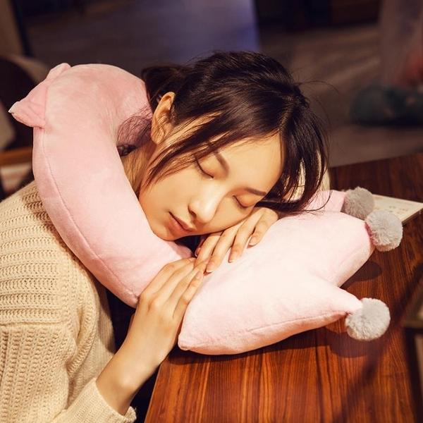 拆分u型枕頭皇冠護頸椎枕開車用旅行午睡枕