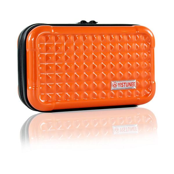 YISTUNEE 多功能收納包 橘色 收納 收納包 硬殼 過夜包