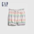 Gap嬰兒 布萊納系列 甜美印花純棉鬆緊短褲 669595-彩色條紋