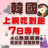 現貨 韓國 7日旅遊網卡 不降速 4G高速飆網韓國網卡吃到飽/南韓網卡/網路卡/韓國上網卡/韓國wifi