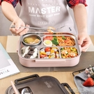 日式304不銹鋼飯盒分隔型學生便當盒帶蓋...