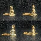 普賢菩薩 純銅24K金電鍍屬龍屬蛇本命佛守護神佛像項鏈